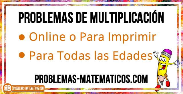 Problemas de multiplicación para niños de primaria