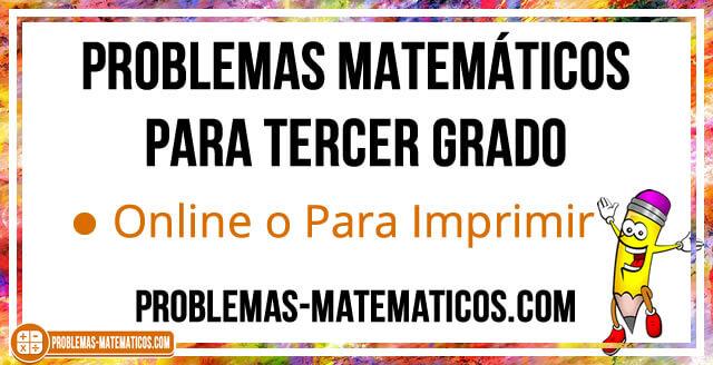 Problemas Matemáticos De 3 De Primaria Online O Descarga