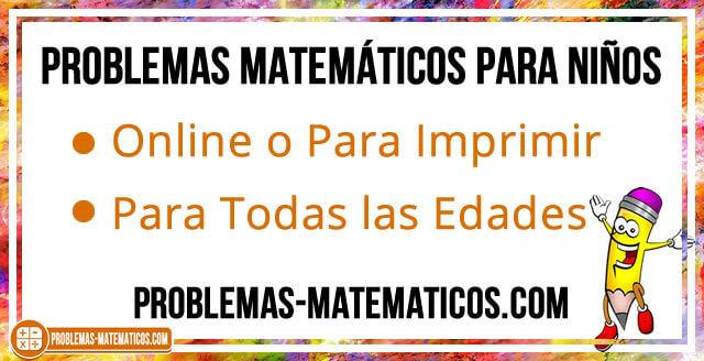 Problemas matemáticos para niños de primaria
